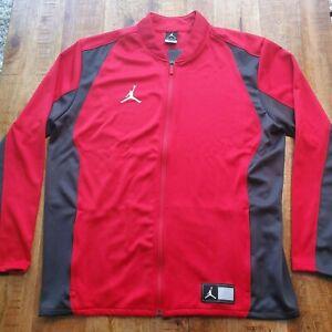Nike Air Jordan Flight Full Zip Track Men Jacket University Red/Grey 924707-657