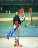 Red Schoendienst Psa Dna Coa Autograph 8x10 Original Photo Hand Signed Authentic
