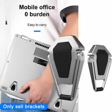2x Mini Foldable Laptop Stand Pad PC Tablet Holder Adhesive Invisible Bracket