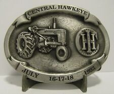 IH Farmall M Tractor Belt Buckle 1993 IHCC Central Hawkeye Gas Engine & Tractor