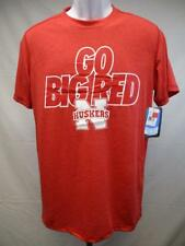 "New Nebraska Cornhuskers ""Go Big Red"" Majestic Mens Medium Red Shirt MSRP $22"