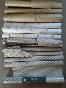 Bundle Laura Ashley Wallpaper roll ends/offcuts 3 Different Designs Arts/crafts