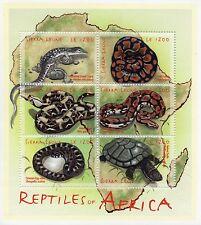 Sierra Leonean Snakes Postal Stamps