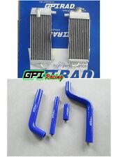 FOR Yamaha YZ125 1996-2001 1997 1998 99 aluminum radiator & BLUE hose