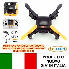 DRONE QUADRICOTTERO RADIOCOMANDATO MINI PORTATILE RICARICABILE USB LED FP-HC636