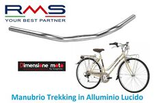 0020 - Manubrio Curvo RMS in Alluminio Lucido/Cromo per Bici 26-28 Single Speed