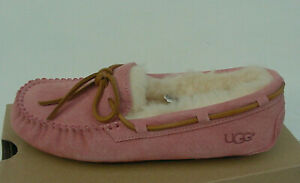 Ugg Australia Women's Dakota Slipper Peach/Chemise Pink Moccasin Fur Sz 6 NWOB