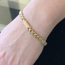 Stunning Classy Lovely Tri color 18KY Gold Ladies Italian bracelet