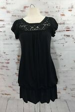 Blu Heaven Dropwaist Dress Black Lace Size M #288