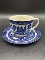 Vintage Johnson Brothers Blue Willow Tea Cup/Saucer Set Replacement