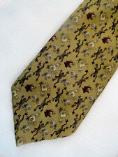 The Nature Conservancy Mari Frog Taupe Tan Olive Brown Silk Necktie