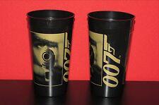 Set of 2 Goldeneye 007 James Bond Promo Plastic Movie Cups Excellent