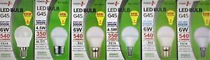 Round / Golfball LED Light Bulbs E14 B22 E27 4.5w = 40w / 6w = 60w Light Bulbs