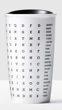 Starbucks Word Search Double Wall Ceramic Traveler Mug 12 fl oz.