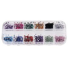 Strass Steine 3000 Stück mit Box 12 Farben Nailart 1,5mm Bunt Nageldesign
