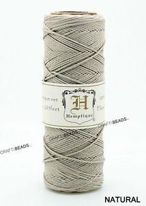 0.5MM Polished Hemp Twine Hemptique Cord Variegated Macrame String 10lbs - 205FT