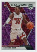 2019-20 KENDRICK NUNN 47/50 PANINI MOSAIC NBA DEBUT DISCO ROOKIE RC #268