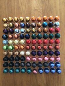 100 leere Nespresso Kapseln gewaschen und gereinigt 36 Farben Viele Limited TOP