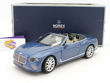 "Norev 182785 # Bentley Continental GT Convertible Bj. 2019 "" blaumetallic "" 1:18"