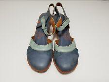 ART AMSTERDAM 313 three tone Blue Strap Platform Low Heels Womens EU 41 US 8 new