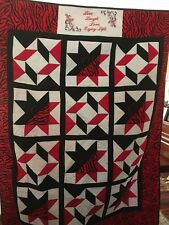 Red And Black Tiger Quilt