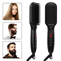 Electric Heated Quick Multifunctional Beard Straightener Comb Hair Straightener