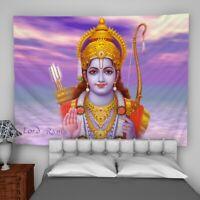 Lord Rama Tapestry Wall Hanging Mandala Bedspread Indian Poster