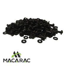 "19"" Rack Fasteners Premium 50 Pack (Large Head  Screws / Captive Washers / Nuts"