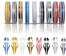 NEW CHROME 12mm PIN STRIPE PinStriping Double TAPE Decal Vinyl Sticker CAR BODY