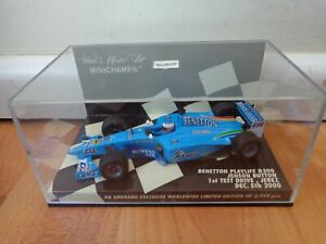 MINICHAMPS 1/43 BENETTON PLAYLIFE B200 JENSON BUTTON JEREZ TEST 2000 F1 CAR