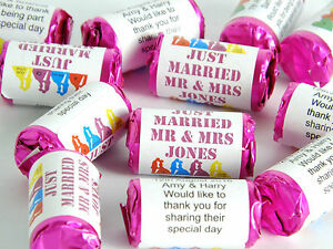 Personalised Mini Love Hearts Wedding Favours Sweets gift party just married