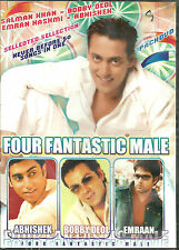 FOURE FANTASTIC MALE - BOLLYWOOD TOP SELECTION OF 50 SONGS DVD - FREE UK POST
