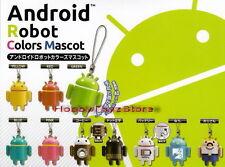 Bandai Android Robot Colors Mascot Cell Phone Strap Figure Full Set of 10pcs