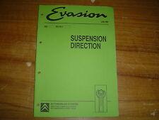 REVUE TECHNIQUE CITROËN EVASION SUSPENSION DIRECTION 32 PAGES JUIN 1994