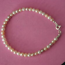 "Beautiful Bracelet With Freshwater Pearls  8""  Inches.Long In Gift Box"
