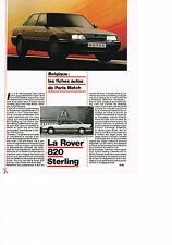 PUBLICITE ADVERTISING   1987   ROVER 820 STERLING    (recto verso)
