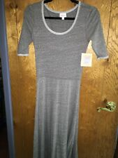 LulaRoe Ana Dress NWT XS gray heathered