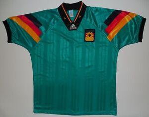Germany Police Adidas Football Jersey Shirt Trikot 1992/1994 Size L Away Green
