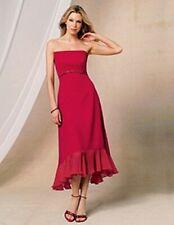 Jordan Fashion Bridesmaid  Prom Evening Party Gala Chiffon Cherry Dress size 6