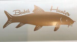 Barbel Vinyl Decal Sticker Fishing copper colour