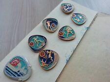 Set #7 of badges Kolskiy souvenir USSR Soviet Metal Pin 1988 Holiday of the Nort