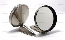 """PAIR OF 5"""" DURANT STAINLESS STEEL MIRROR REPRODUCTION PORSCHE 356 911 912"""