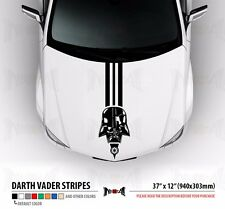 "37""DARTH VADER Dark Side Star Wars Hood Stripes Car Vinyl Sticker Decal"