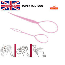 2PCS Topsy Tail Pink Hair Braid Ponytail Maker Styling Bun Tool Hair Accessories