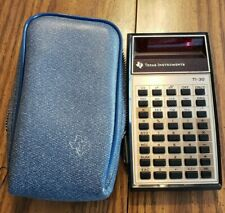 Vintage Texas Instruments Ti-30 Scientific Calculator With Protective Case Works