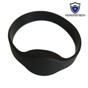 MIFARE Classic 1K Wristband 13.56MHZ Waterproof Black RFID Bracelet -10pcs