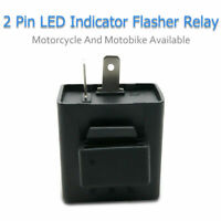 Flasher relay for LED indicator motorcycle motorbike bike resistor 2 Pin 12V NEW