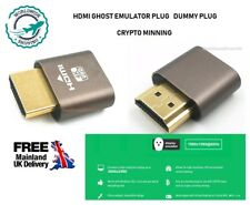 HDMI EDID DDC DUMMY Plug SENZA TESTA GHOST Display Emulatore PC/MAC MINI GOLD UK