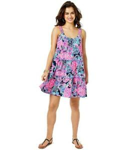 Lilly Pulitzer NWT LORO Swing Dress High Tide Navy In TURTLE AMAZEMENT LARGE L