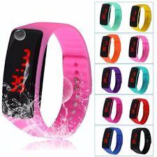 Women Men Girls Kids Gift Fitness LED Silicon Bracelet Digital Sport Wrist Watch